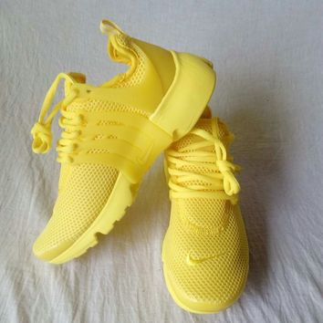 NIKE Air Presto Trending Women Men Leisure Running Sport Shoes Sneakers Pure Yellow I-AA-SDDSL-KHZHXMKH