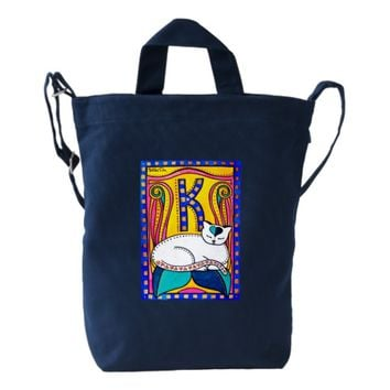 Peace And Love Cat Art Duck Bag