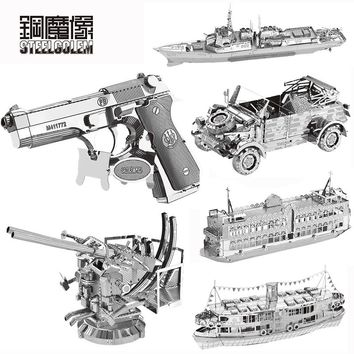 3D Metal Puzzle High-quality MIni Beretta 92 SUV Series DIY Laser Cut Puzzles Jigsaw Model For Adult Child Kids Educational Toys
