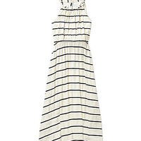 GB Girls 7-16 Ivory Stripe Maxi - Ivory/Black