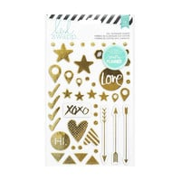 Heidi Swapp Hello Beautiful Puffy Gold Foil Chipboard Stickers