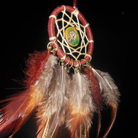 New Pendant OWL Dreamcatcher with painting Necklace Dream catcher