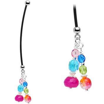 Handcrafted Rad Rainbow Pregnancy Belly Ring