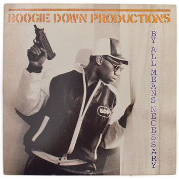 Vintage 80s Boogie Down Productions By All Means Necessary Rap Album Record Vinyl LP