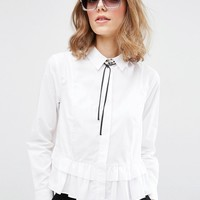 ASOS Oversized 70s Sunglasses With Glitter Nose Bridge And Underframe