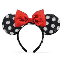 Minnie Mouse Ear Headband - Black and White