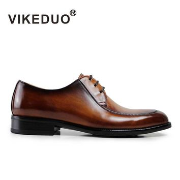 handmade mens Derby Shoes brown italy design wedding party shoes