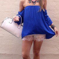 Royal Blue Gypset Blouse