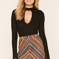 Geo Pattern Mini Skirt
