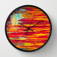 Summer Light Wall Clock by Sophia Buddenhagen
