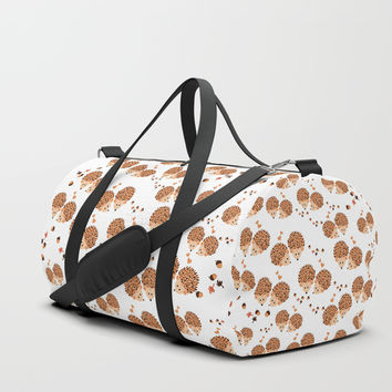 Hedgehogs in autumn Duffle Bag by VanessaGF
