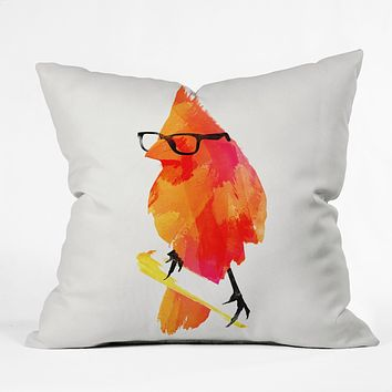 Robert Farkas Punk Bird Throw Pillow