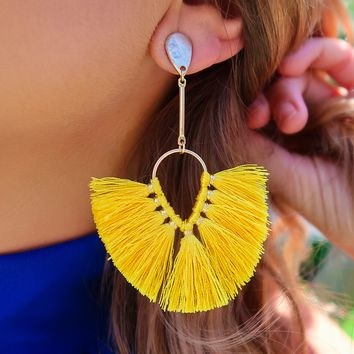 Can't Stop It Earrings: Yellow/Gold