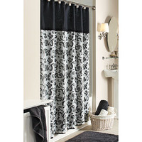 Walmart: Better Homes and Gardens Damask Scroll Shower Curtain
