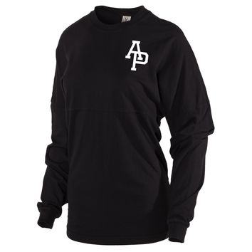 Official NCAA Azusa Pacific University Cougars APU The Cougar Women's Long Sleeve Spirit Wear Jersey T-Shirt