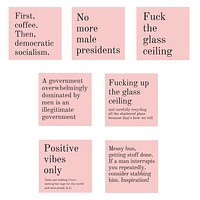 Highly Aggressive GetBullish Vinyl Weatherproof Stickers in Blush Pink 7-Pack