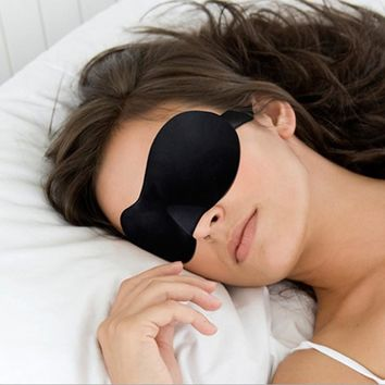 1 PC Unisex Women Men Sleeping Eye Masks Blindfold Shade Travel Sleep Aid Cover 3D Portable Patches 9 Colors
