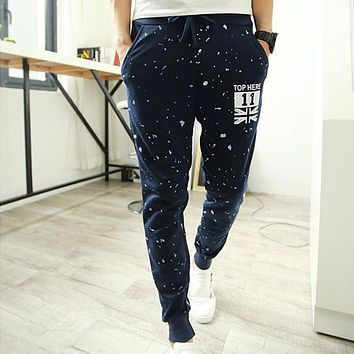 New 2017 Casual Men Pants Stars Printing Slim Fit Trousers Men Hip Hop Harem Outwear Pants Fashion Mens Joggers