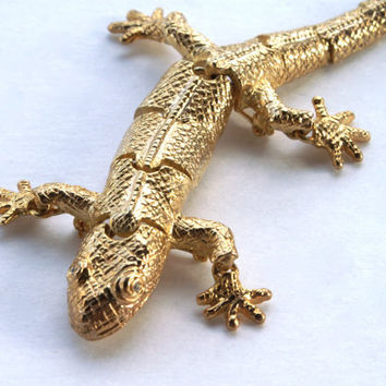 Lizard Brooch Articulated Pin