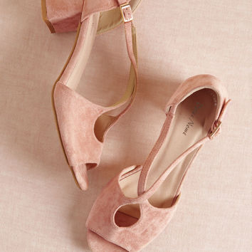 Crisscross My Heart Block Heel in Rose
