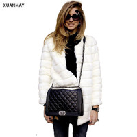 Autumn and Winter Fur coat Jacket and  Large size women's Faux fur coat Women's winter coat Leather grass female