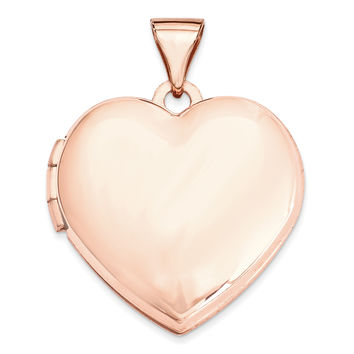 14k Rose Gold 18mm Domed Heart Locket
