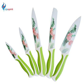 New 5 pcs Professional Japanese Knife Set Stainless Steel Kitchen Knives Japanese Chef Knife Utility Knife Tools Faca De Cozinha
