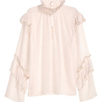 H&M Crinkled Flounced Blouse $34.99