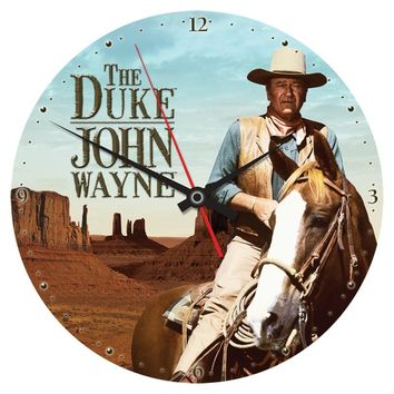"John Wayne ""The Duke"" Large Wall Clock"