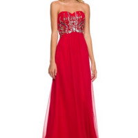 PRIMA Glitz GZ1524 Jeweled Chiffon Prom Dress
