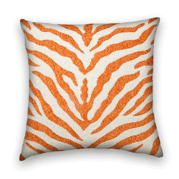 Woven Orange Contemporary Decorative Pillow Cover 20 X 20  Dural