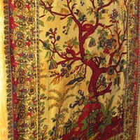 Tree Of Life Tapestry Bedspread Indian Hippie Tapestry Coverlet Sheet Wall Hanging Bohemian Boho Bedding Throw Bedspread Home Decor Art