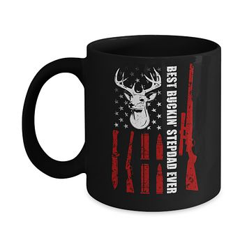 Best Buckin' Stepfather Ever Deer Hunting Stepdad Fathers Day Mug