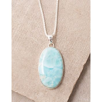 Oval Larimar Necklace
