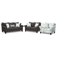 Jasmine Upholstery 3 Pc. Living Room - Value City Furniture