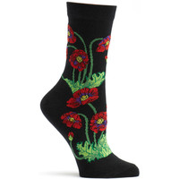 Poppies Sock Apothecary Florals