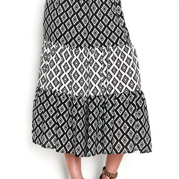 Diamonds Flare Midi Skirt