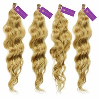 4 x Curly Fusion I-Tip Hair Extension Bundle Deal