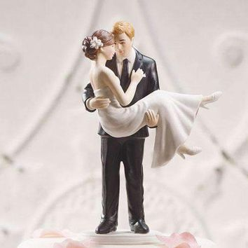 """Swept Up in His Arms"" Wedding Couple Figurine (Pack of 1)"