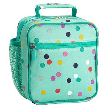 Gear-Up Mint Confetti Multi Dot Classic Lunch With Mesh Side Pocket