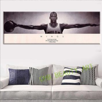 Michael Jordan WINGS MJ 23 Basketball Poster Print 3 Size Poster And Prints For Home D