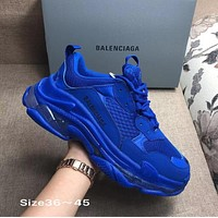 BLUE BOLD BALENCIAGA COLLECTIBLE SNEAKERS SHOES FOR WOMEN MEN GIFT