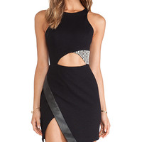 Charles Henry Cutout Dress in Black