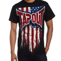 TapouT Men's USA Short Sleeve Tee, Black, X-Large