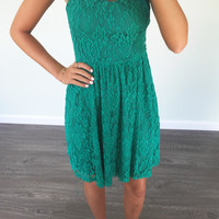 Enchantress Emerald Strapless Dress