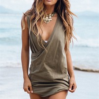 Leisha Dress - Khaki | SABO SKIRT