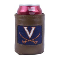 UNIVERSITY OF VIRGINIA NEEDLEPOINT CAN HOLDER BY SMATHERS & BRANSON