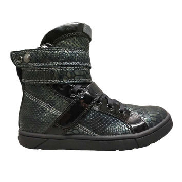 Charcoal Anaconda High Top Shoes for Bodybuilding