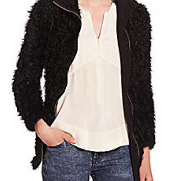 IRO - Karare Shearling Zip-Up Jacket - Saks Fifth Avenue Mobile