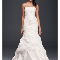 Taffeta Mermaid Wedding Dress with Skirt Pickups - Davids Bridal